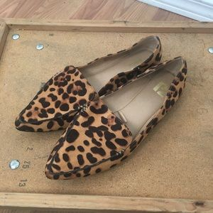 Report leopard print pointy toe loafers
